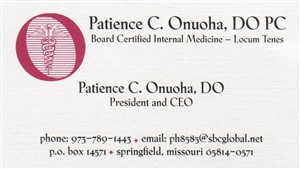 Contact Patience C. Onuoha, DO, PC