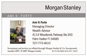Ami K Forte Morgan Stanley Florida 34685